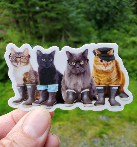 Tough Cats Sticker