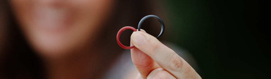 FLEX RIngs - Silicone Wedding Bands for Brides and Grooms