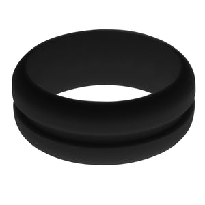 Mens Black Silicone Ring without Changeable Color Band