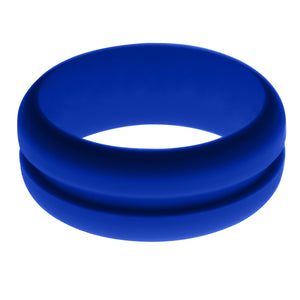 Mens Blue Silicone Ring without Changeable Color Band