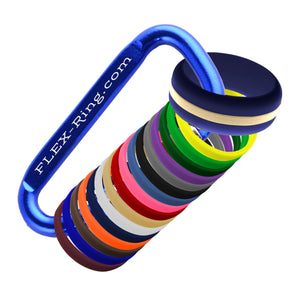 Mens Navy Blue Silicone Ring With Changeable Color Bands Combo Pack