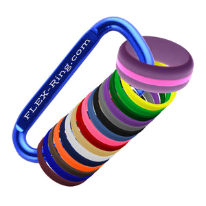 Mens Purple Silicone Ring with Changeable Color Bands Combo Pack