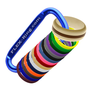 Mens Sand Silicone Ring with Changeable Color bands Combo Pack