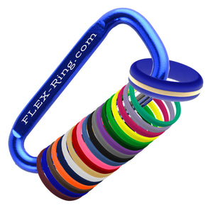 Womens Blue Silicone Ring with Changeable Color Bands Combo Pack