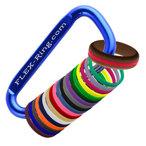 Womens Brown Silicone Ring with Changeable Color Bands Combo Pack
