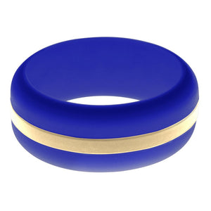 Mens Blue Silicone Ring with Sand Changeable Color Band