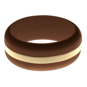 Mens Brown Silicone Ring with Sand Changeable Color Band
