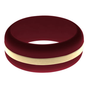 Mens Cardinal Red Silicone Ring with Sand Changeable Color Band