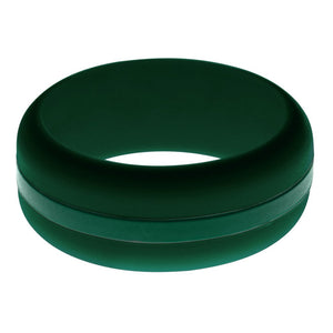 Mens Dark Green Silicone Ring with Dark Green Changeable Color Band