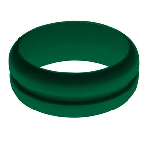 Mens Dark Green Silicone Ring without Changeable Color Band