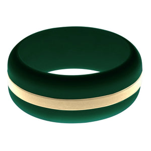 Mens Dark Green Silicone Ring with Sand Changeable Color Band