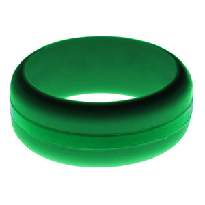 Mens Green Silicone Ring with Green Changeable Color Band
