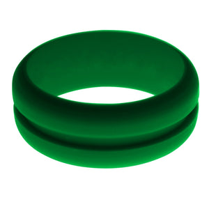 Mens Green Silicone Ring without Changeable Color Band