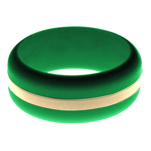 Mens Green Silicone Ring with Sand Changeable Color Band