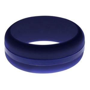 Mens Navy Blue Silicone Ring With Blue Changeable Color Band