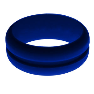 Mens Navy Blue Silicone Ring Without Changeable Color Band