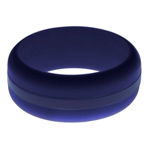 Mens Navy Blue Silicone Ring With Navy Blue Changeable Color Band