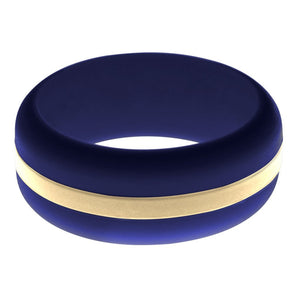 Mens Navy Blue Silicone Ring With Sand Changeable Color Band