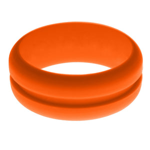 Mens Orange Silicone Ring without Changeable Color Band