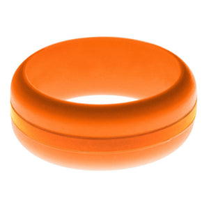 Mens Orange Silicone Ring with Orange Changeable Color Band
