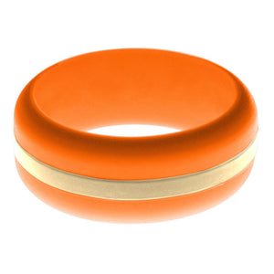 Mens Orange Silicone Ring with Sand Changeable Color Band
