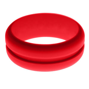 Mens Red Silicone Ring without Changeable Color Band