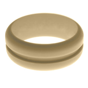 Mens Sand Silicone Ring without Changeable Color Band