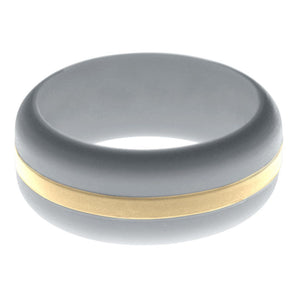 Mens Silver Silicone Ring with Sand Changeable Color Band