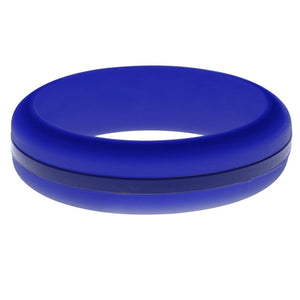 Womens Blue Silicone Ring with Blue Changeable Color Band