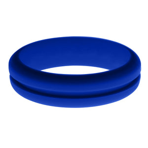 Womens Blue Silicone Ring without Changeable Color Band
