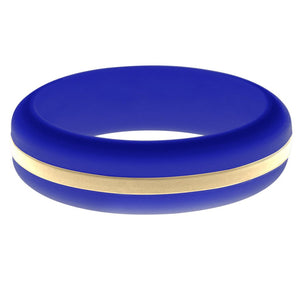Womens Blue Silicone Ring with Sand Changeable Color Band