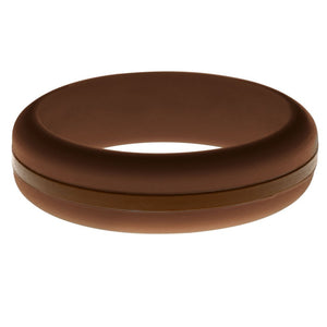 Womens Brown Silicone Ring with Brown Changeable Color Band
