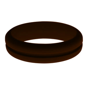 Womens Brown Silicone Ring without Changeable Color Band