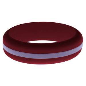 Womens Cardinal Red Silicone Ring with Medium Purple Changeable Color Band