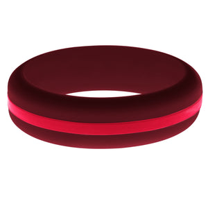 Womens Cardinal Red Silicone Ring with Red Changeable Color Band