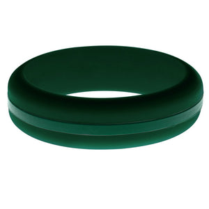 Womens Dark Green Silicone Ring with Dark Green Changeable Color Band