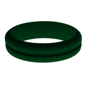 Womens Dark Green Silicone Ring without Changeable Color Band