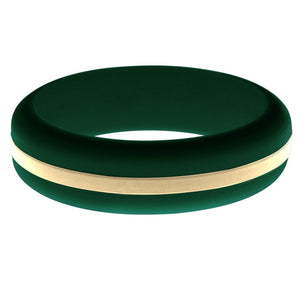 Womens Dark Green Silicone Ring with Sand Changeable Color Band