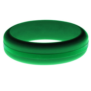 Womens Green Silicone Ring with Green Changeable Color Band