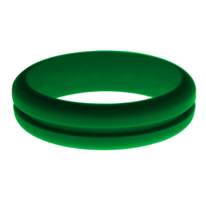 Womens Green Silicone Ring without Changeable Color Band