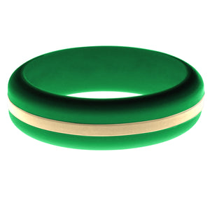 Womens Green Silicone Ring with Sand Changeable Color Band