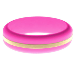 Womens Hot Pink Silicone Ring with Sand Changeable Color Band