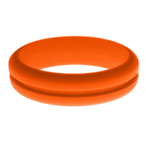 Womens Orange Silicone Ring without Changeable Color Band