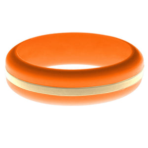 Womens Orange Silicone Ring with Sand Changeable Color Band
