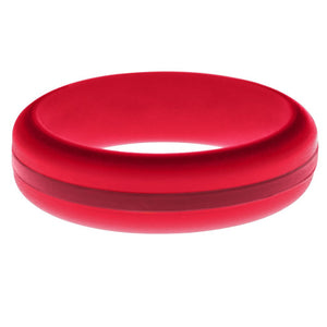 Womens Red Silicone Ring with Cardinal Red Changeable Color Band