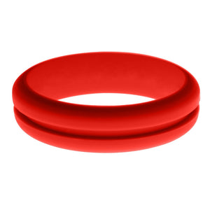 Womens Red Silicone Ring without Changeable Color Band