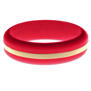 Womens Red Silicone Ring with Sand Changeable Color Band