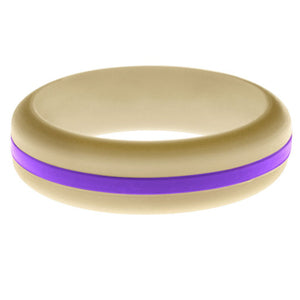 Womens Sand Silicone Ring with Purple Changeable Color Band
