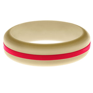 Womens Sand Silicone Ring with Red Changeable Color Band