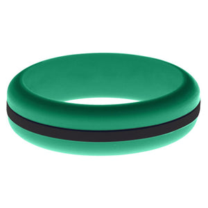 Womens Teal Silicone Ring with Black Changeable Color Band
